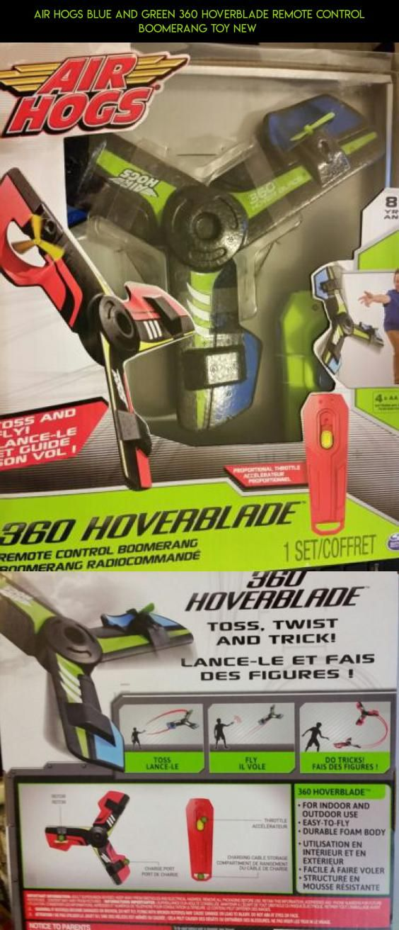 Air Hogs Blue And Green 360 Hoverblade Remote Control Boomerang Toy NEW Shopping Parts