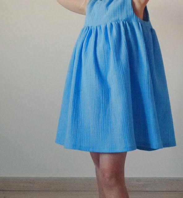 Blauw Zomerjurkje