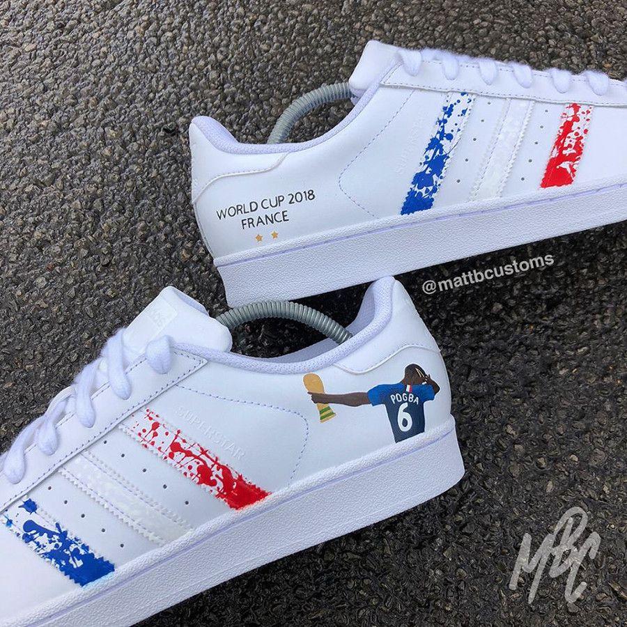 new styles 5d8b4 4a109 paul-pogba-dab-adidas-superstar-customisée (3)