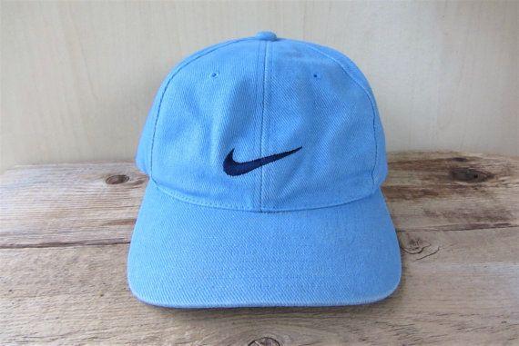Nike Original Vintage Snapback Hat 6 Panel Light Blue Cotton Etsy Nike Original Snapback Hats Hats