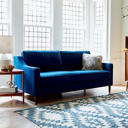 Paidge Queen Sleeper Sofa Blue Sleeper Sofa Modern Sleeper Sofa Velvet Sleeper Sofa