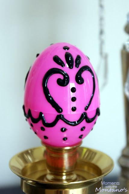 Easter eggs with 3d paint