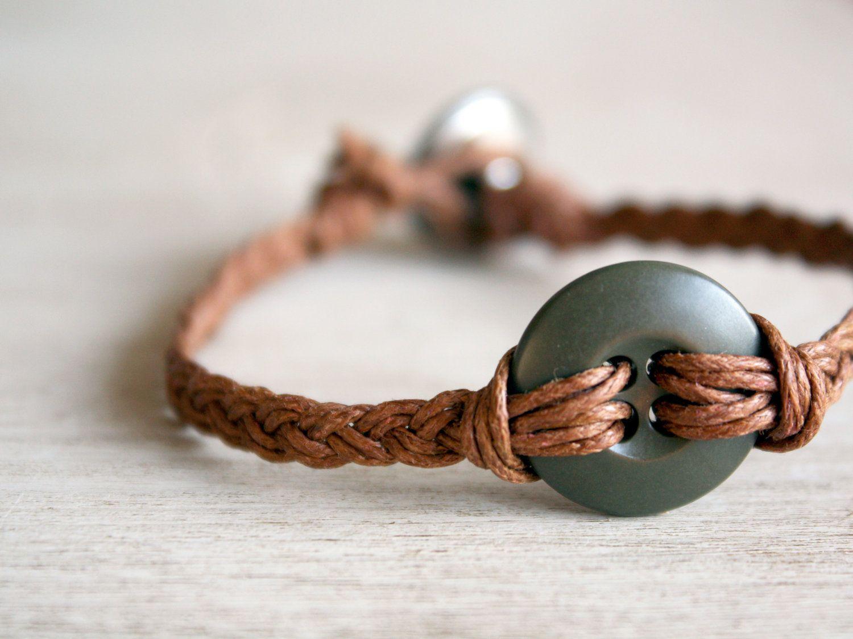 Military button braided bracelet by LuvyDuvybyMissy on Etsy