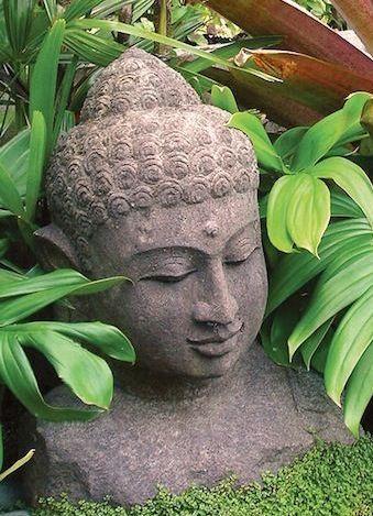 Green Stone Buddha Head