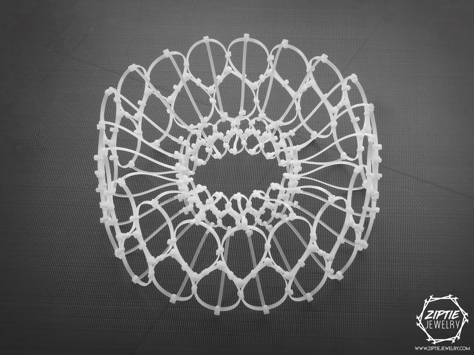 White costume Necklace / Zip tie Avant garde/White Festival | Etsy