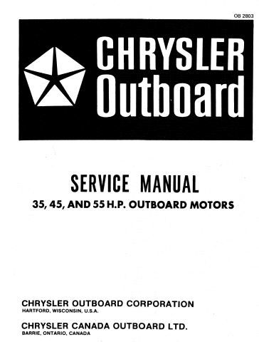 New post (Chrysler Outboard 35 45 55 Hp Service Repair