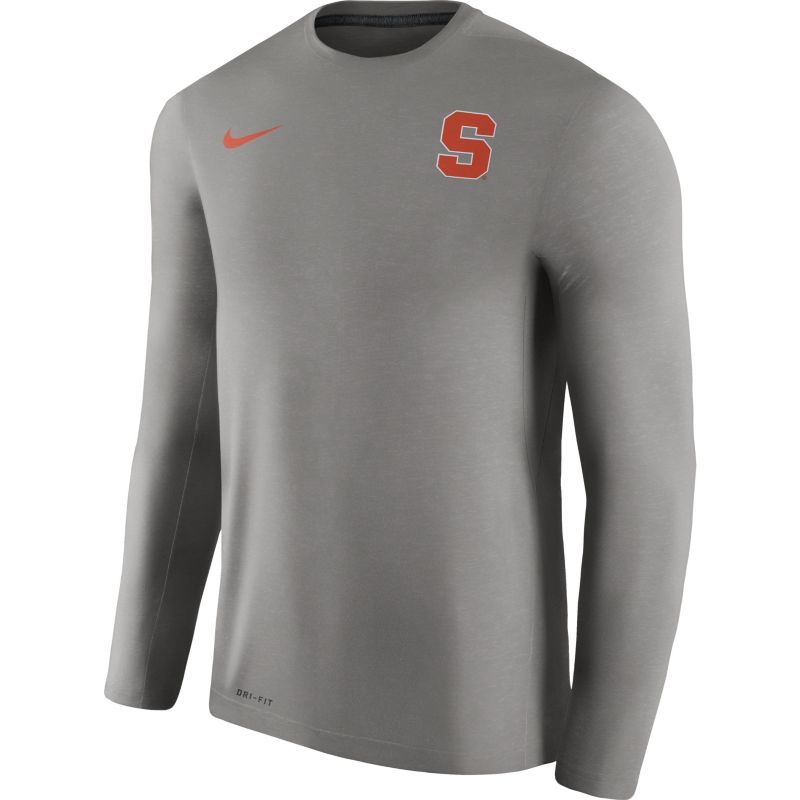 99f9ef35 Nike Men's Syracuse Orange Heathered Grey Football Coach Dri-FIT Touch  Sideline Long Sleeve Shirt, Size: Large, Team