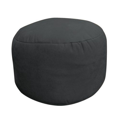 Soft Suede Luxe Bean Bag Foot Footstool Onyx By American Furniture Alliance B001n44dqo