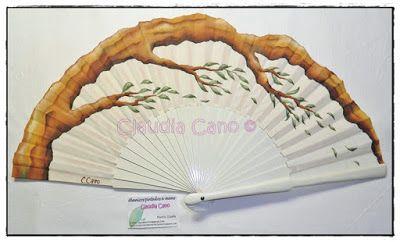 Abanicos pintados a mano por claudia cano abanicos - Como pintar abanicos ...