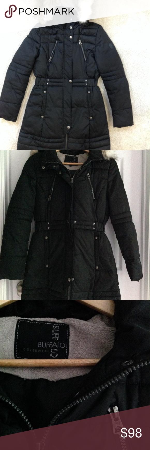 Buffalo David Bitton Women S Cinched Waist Parka In 2021 Coats Jackets Women Hooded Winter Coat Army Green Bomber Jacket [ 1740 x 580 Pixel ]