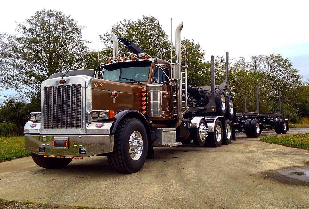 Peterbilt Custom 379ex Heavy Haul Log Hauler Us Trailer Would