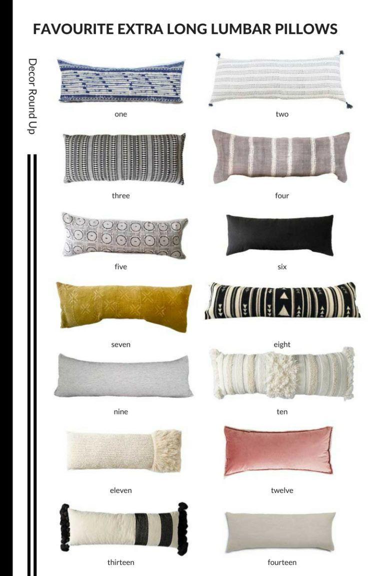 extra long lumbar pillow round up