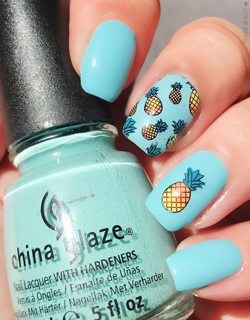 Prairie Beauty: MANI MONDAY: Summer Pineapple Nail