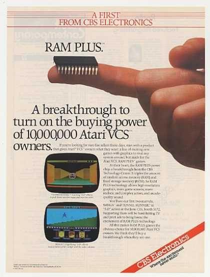 CBS Electronics Atari VCS RAM PLUS (1983)