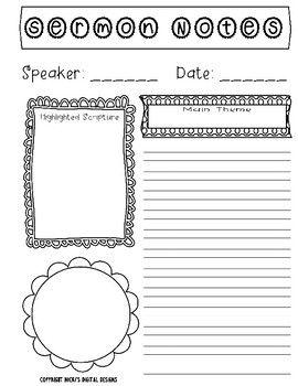 Planner Sermon Notes -   11 fitness Planner memories ideas