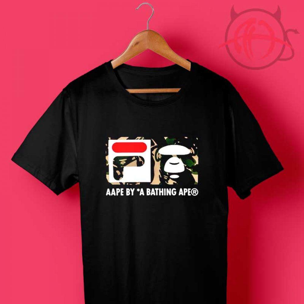 b0e17ba9 Fila Collab Bape Camo Design T Shirt Price : $14.50 Check out our brand new  !!