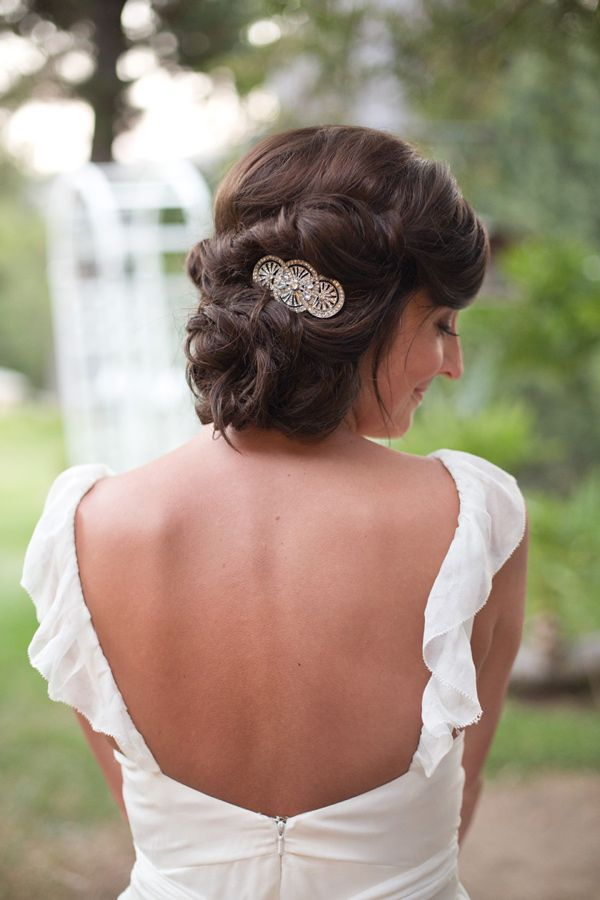 stunning updo, photo by Katrina Louise http://ruffledblog.com/secluded-garden-estate-wedding #hair #weddinghair #bridal