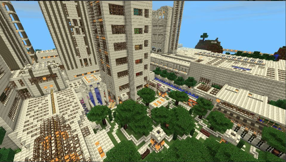 Minecraft PE Modern City Map (Big Craft) Android Gameplay