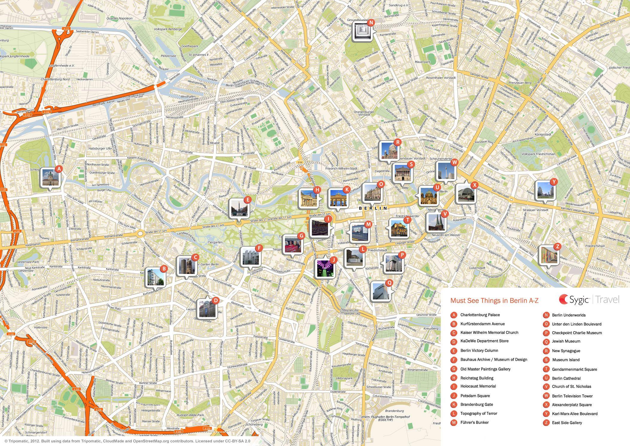 berlin printable tourist map  berlin  pinterest  tourist map - berlin printable tourist map