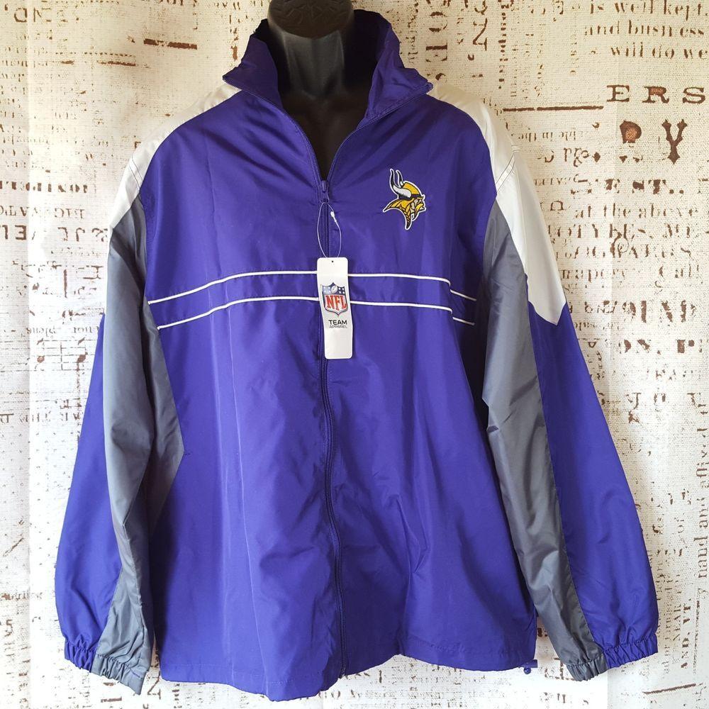 Nfl Team Apparel Mens Unisex Minnesota Viking Purple Windbreaker Jacket Xl Si Nfl Windbreaker Minnesotavikings Jackets Athletic Jacket Puma Jacket [ 1000 x 1000 Pixel ]