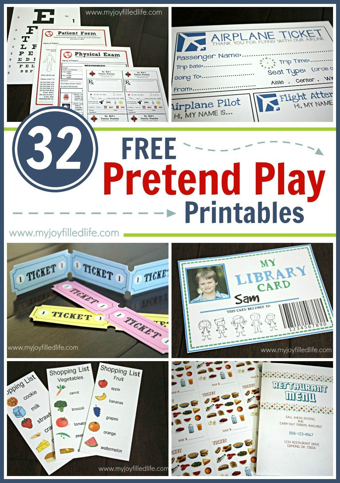 32 Free Pretend Play Printables Dramatic Play Preschool Dramatic Play Printables Pretend Play Printables