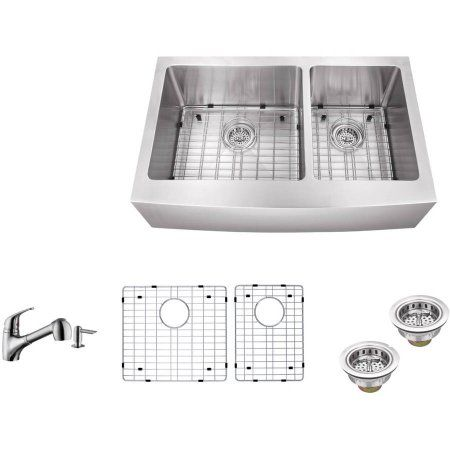Home Improvement Double Bowl Kitchen Sink Apron Sink Kitchen