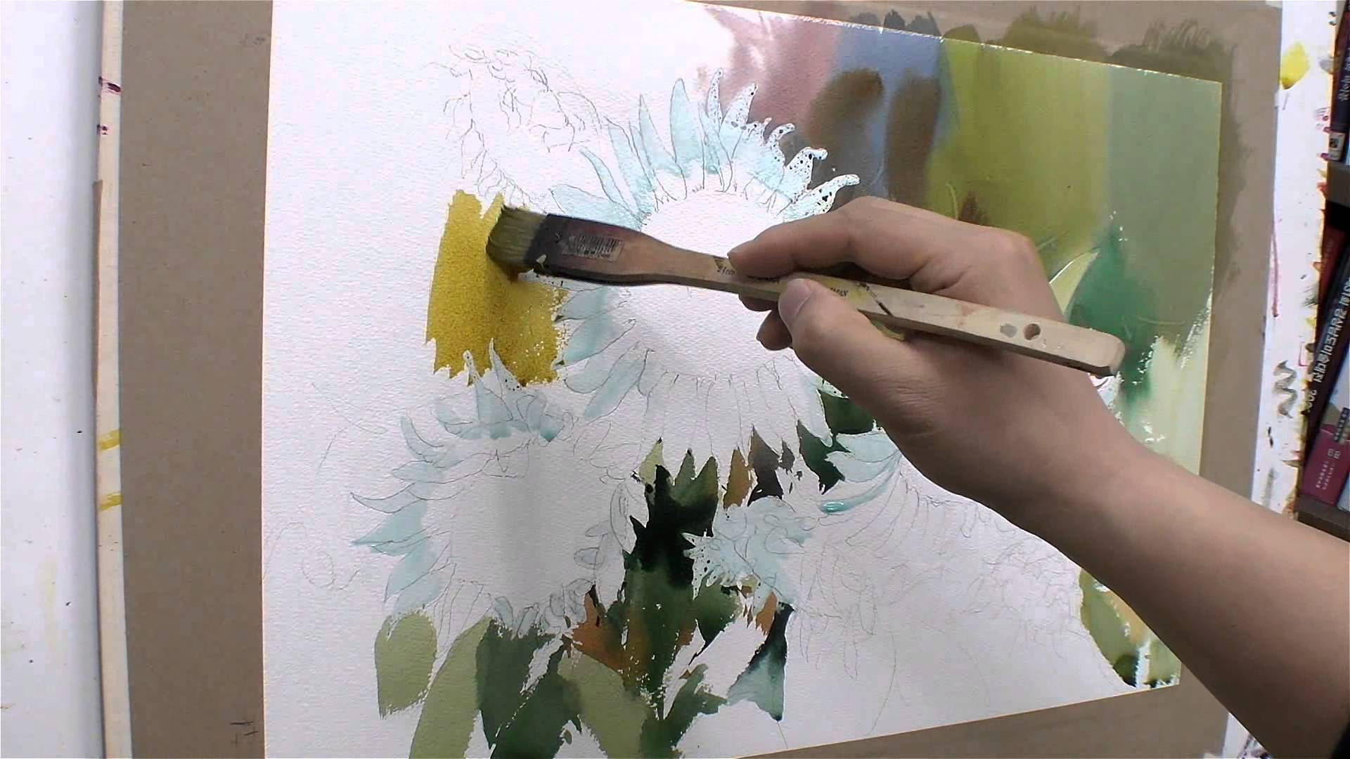 Pittura Acrilica Video 2 해바라기3 Youtube Acquerellisti Nel 2019 Watercolor Video