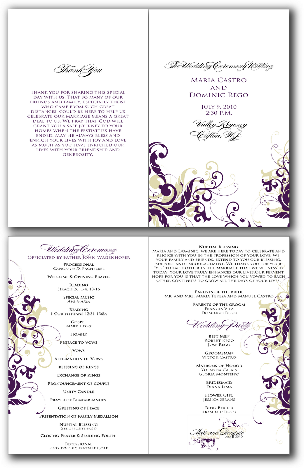 free church program template signatures by sarah june 2010