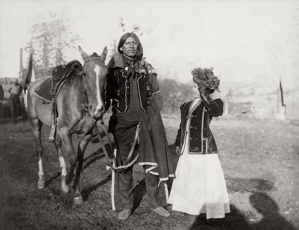 A woman and a Young Sioux man man. 1905