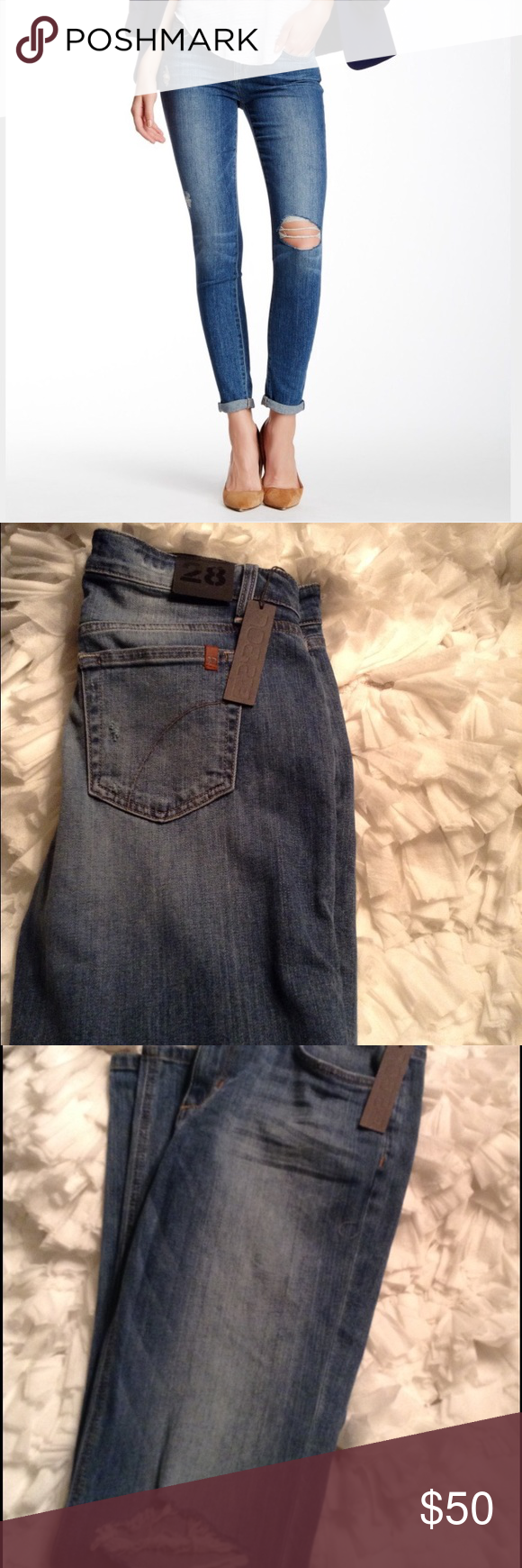 Authentic Joe's jeans Joes blue rolled skinny ankle jeans. They are a must have for your wardrobe. Joe's Jeans Jeans Skinny