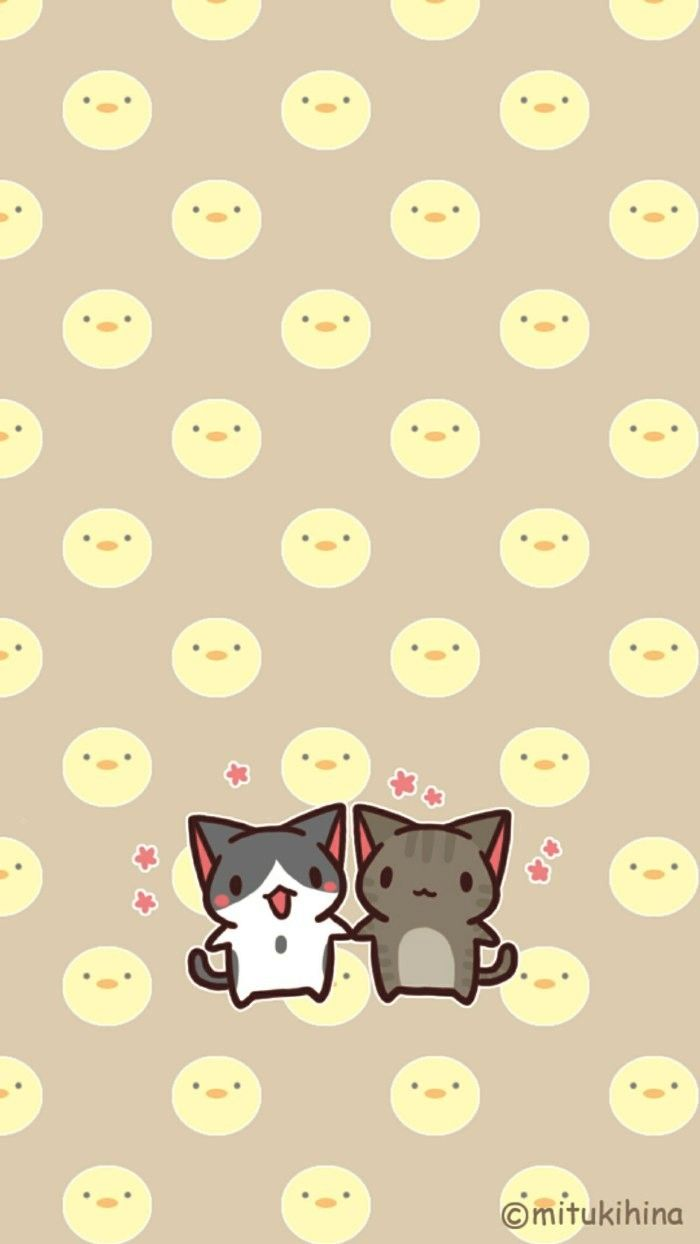 Cheese Cat Couple Iphone Wallpaper Iphone Wallpaper Cat Iphone Wallpaper Kawaii Iphone Wallpaper