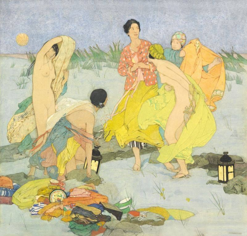 'Summer' by Dorothy Webster Hawksley. British painter, 1884 - 1970.