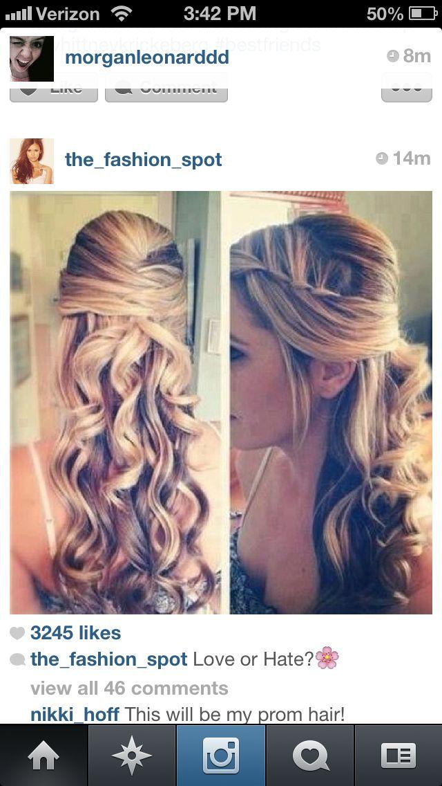 Definately my prom hair
