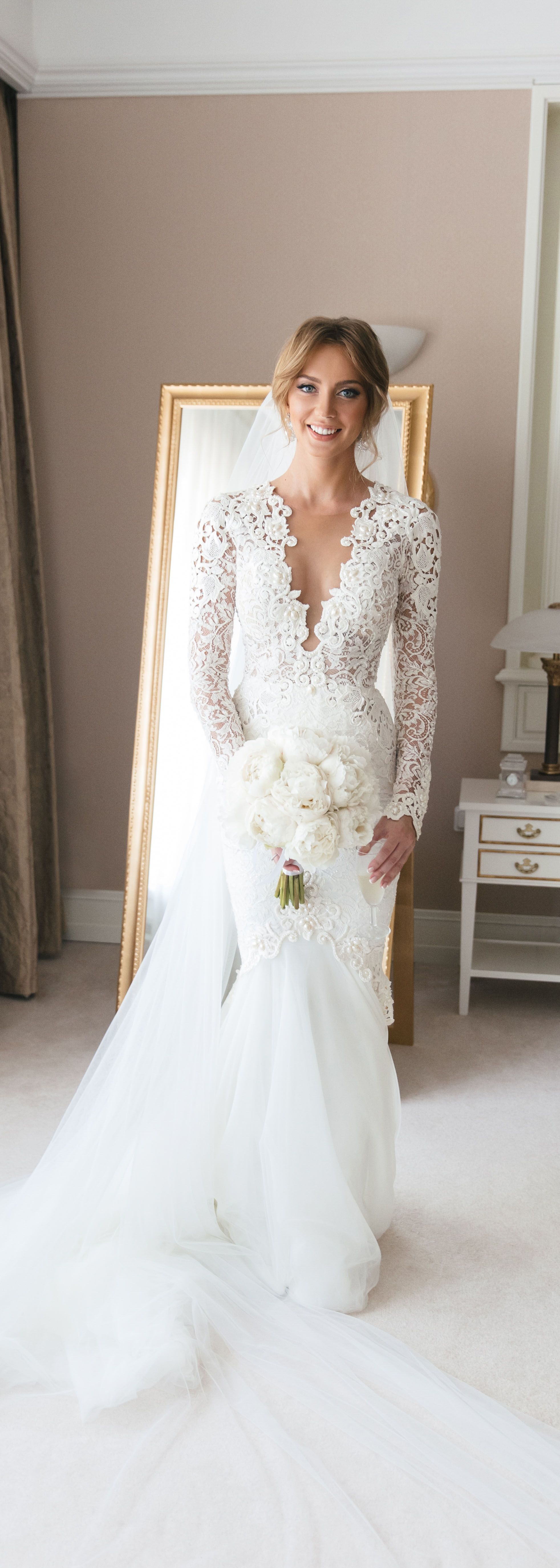 Used berta wedding dress  Stunning BERTA bride from Saint Petersburg uc Pictures by Fontana