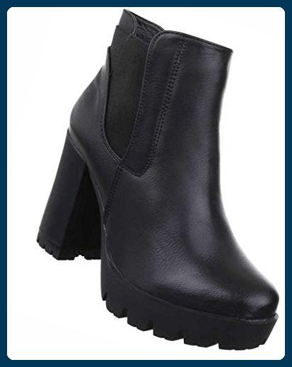 Damen Ankle Boots High Heel Frauen Stiefel Wadenhohe Stiefel Schuhe Lederoptik Schlupf Stiefel Kurzschaft Stief Frauen Stiefel Stiefeletten Damen Stiefel