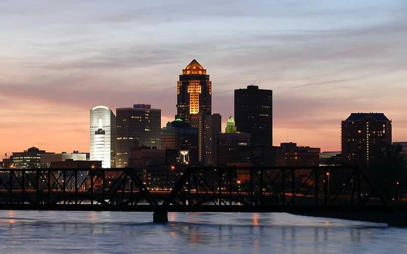 Beautiful View Of Downtown Des Moines Iowa Iowa List Of Cities