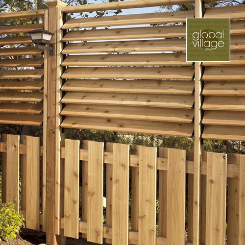 Louvered Fence Outdoor Privacy Privacy Walls Privacy Screen