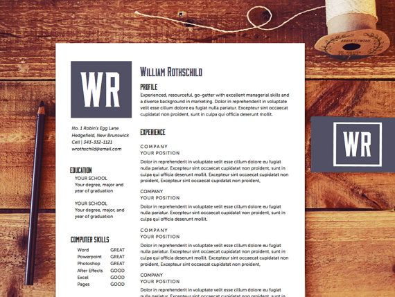Resume Template Cv Template Designer Resume The Rothschild