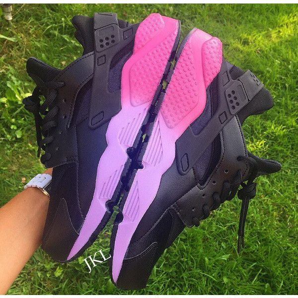 Pink Faded Soles Neon Nike Air Huarache Customs Unisex. ($190 ...