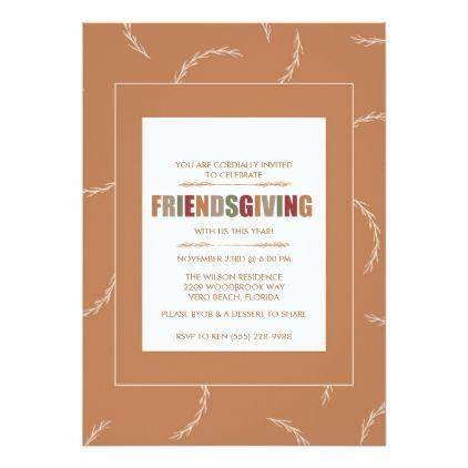 fall friendsgiving thanksgiving dinner invitation thanksgiving