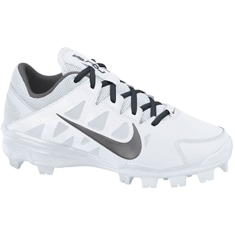 Nike Womens Air Hyperdiamond Strike 2 MCS Softball Cleat - White/Grey |  DICKS Sporting