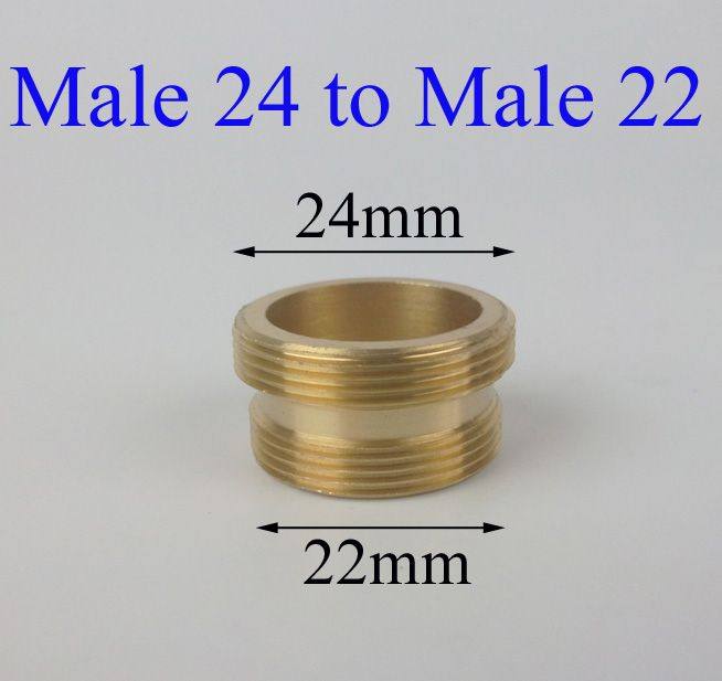 Male 24 to Male 22 brass purifier faucet adapter   Kitchen Fixtures ...