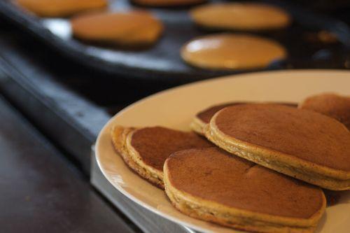 butternut Squash Pankcakes. 1 cup butternut sq, 4 eggs, 1Tbsp coconut oil, 1tsp baking soda, 1 tsp vanilla, 1 tsp cin. Blend. Fry.