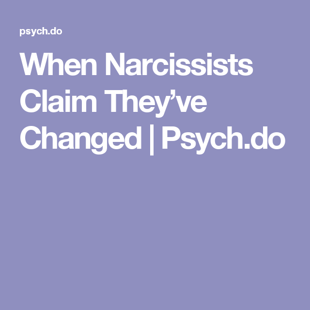 narcissists who have changed