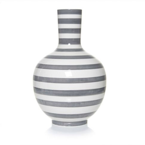 Vase XXL Keramik, geringelt in geringelt bei IMPRESSIONEN