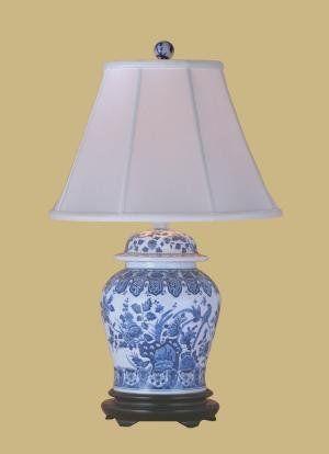 Blue White Porcelain Temple Jar Lamp East Enterprises Http Www Amazon Com Dp B00351a3xk Ref Cm Sw R Pi Dp Umswtb02swbggaj6 Lamp Jar Table Lamp Jar Lamp