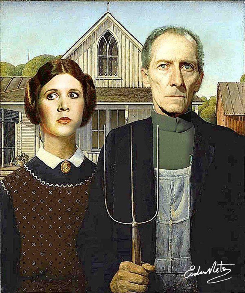 Pin De Sagrado Espiritu En American Gothic Pinturas