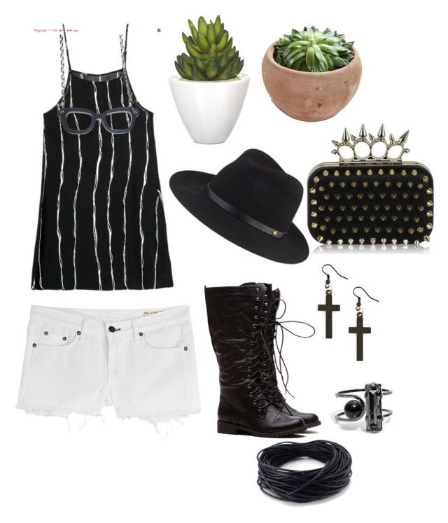 """""""Black and White All Over"""" by bkhaugh ❤ liked on Polyvore"""