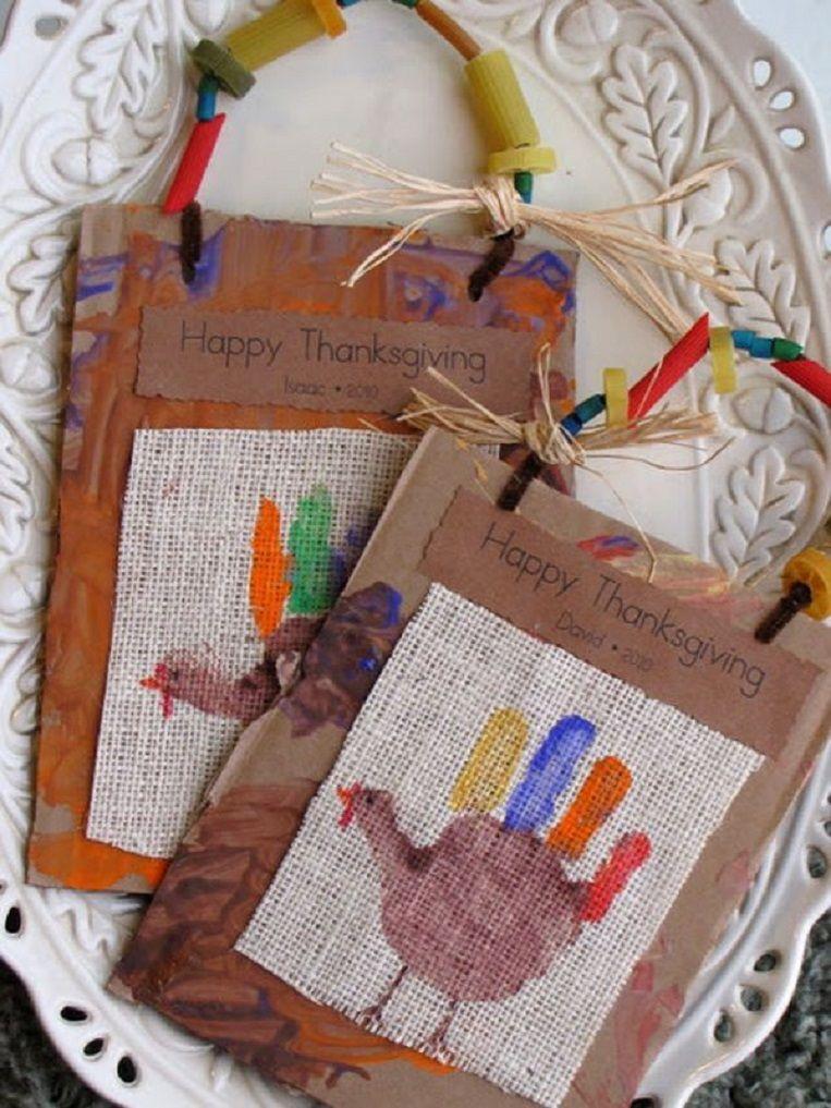 Handprint Turkey On Burlap