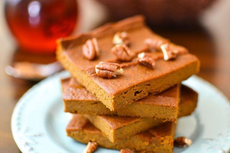 {Flourless} Pumpkin Custard Bars -